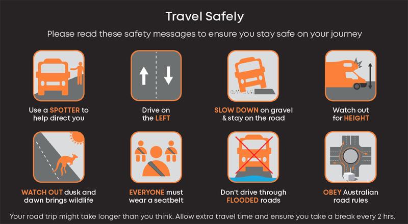 כללים לנהיגה זהירה ברכב שטח באוסטרליה