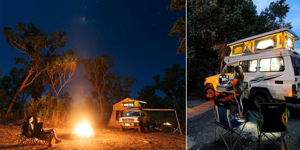 טיול שטח באוסטרליה עם קמפר 4X4 מאפשר לינה נוחה ובישול עצמי גם בתנאי שטח