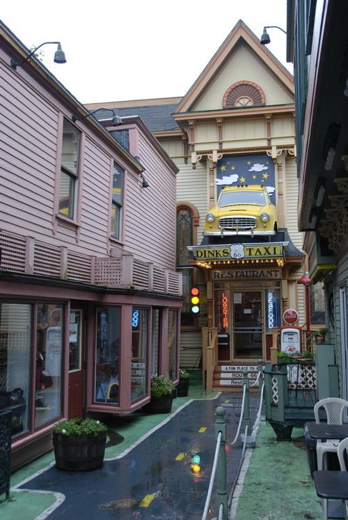מסעדות לובסטרים בעיירה בר הרבור ליד פארק אכדיה
