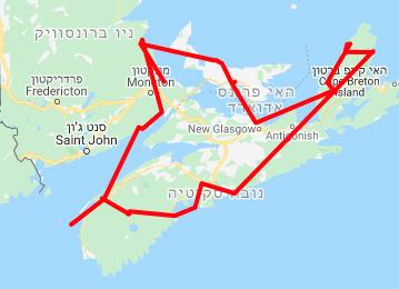 מפת מסלול הליפקס מעגלי