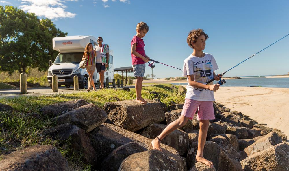 טיול בקרוואן הוא הדרך הנוחה ביותר לטייל עם ילדים באוסטרליה