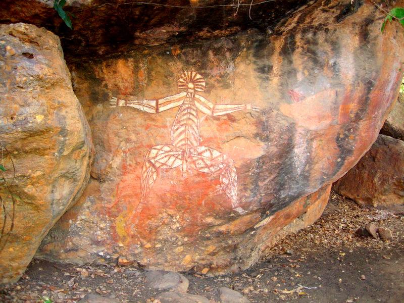 ציורי סלע בפארק קקדו