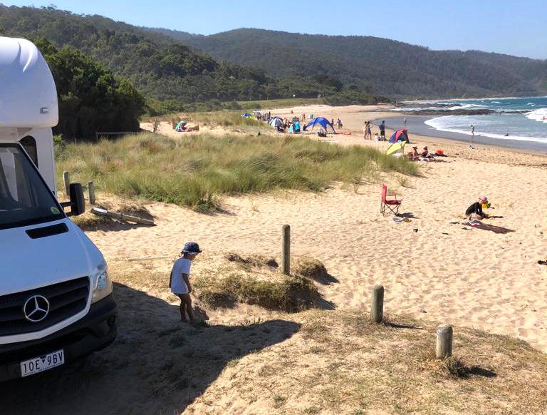 טיול משפחתי בקרוואן בחוף המזרחי של אוסטרליה