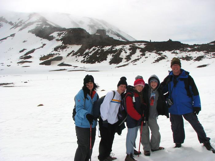 בניו זילנד עשינו מסלולי הליכה (טרקים) ארוכים בשלג