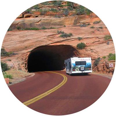 מסלולי טיול לקרוואנים באמריקה