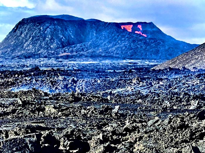 הר הגעש שהתפרץ באיסלנד 2021