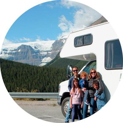 טיול משפחתי בקרוואן במערב קנדה