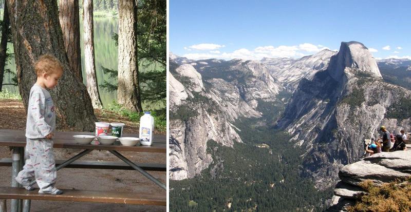טיול עם קרוואן בפארק הלאומי יוסמטי קליפורניה